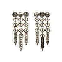 Fashion Women S Jewelry Rhinestone Ear Stud Long Dangle Style Stud Earring 1Pair