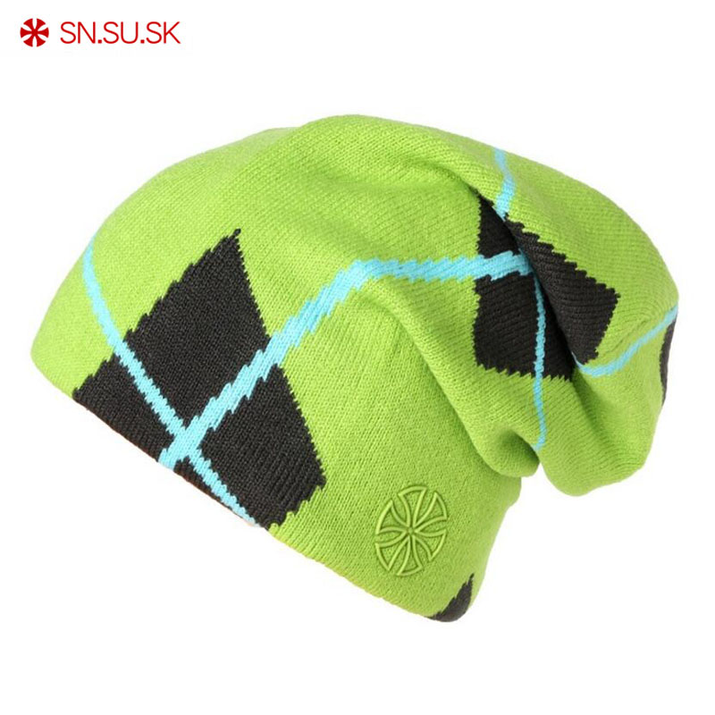 SN.SU.SK Men Women Two Sided Wear Ski Cap Warm Winter Hats Skiing Skating Caps For Woman Turtleneck Beanies Snowboard Hat 5267