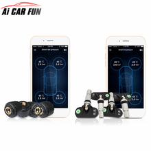 PSI BAR TP630 TPMS de Presión de Neumáticos TPMS Bluetooth Coche Sistema de Alarma de Temperatura Para iPhone Android IOS Teléfono Con 4 Sensores
