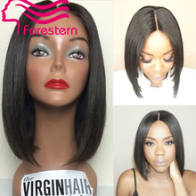 7A Quality Bob Full Lace Wigs For Black Woman Bob Human Hair Short Lace Front Wigs With Baby Hair Bleached Knots Fast shipping