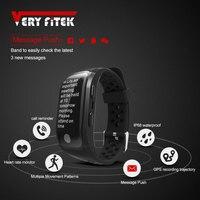 VERYFiTEK V7 Smart Fitness Bracelet IP68 Waterproof Smart Band Heart Rate Monitor Wristband GPS Tracker Pk