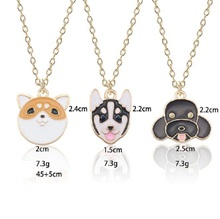 Cartoon Pet Dog Necklace For Women