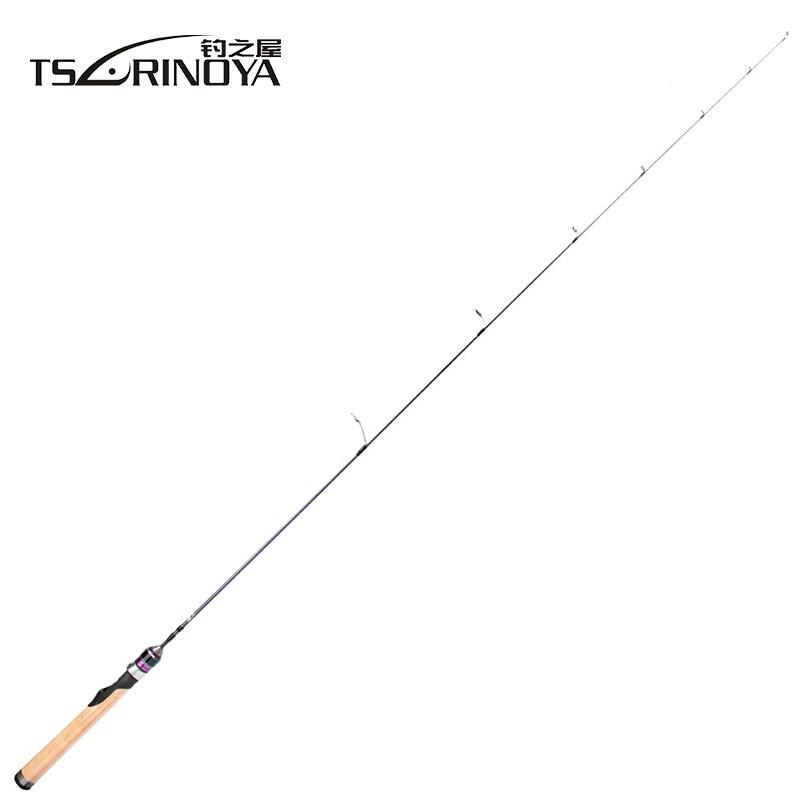 TSURINOYA S472UL Spinning Rod 1.4m Ultralight Spinning Rod 1-6g Lure Weight Carbon Fiber Spinning Fishing Rod 2-6lb Line Weight