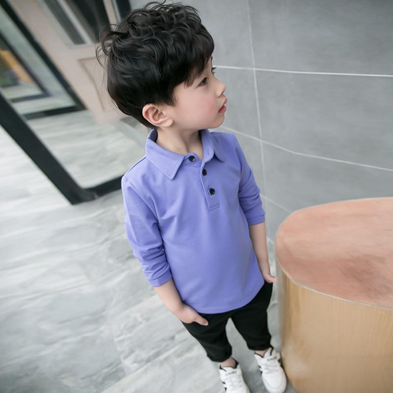 Новая осень дети мальчик, господа блузка детская одежда для мальчиков длинные рукава и пуговицы с лацканами Топ Мальчик отличное качество р...