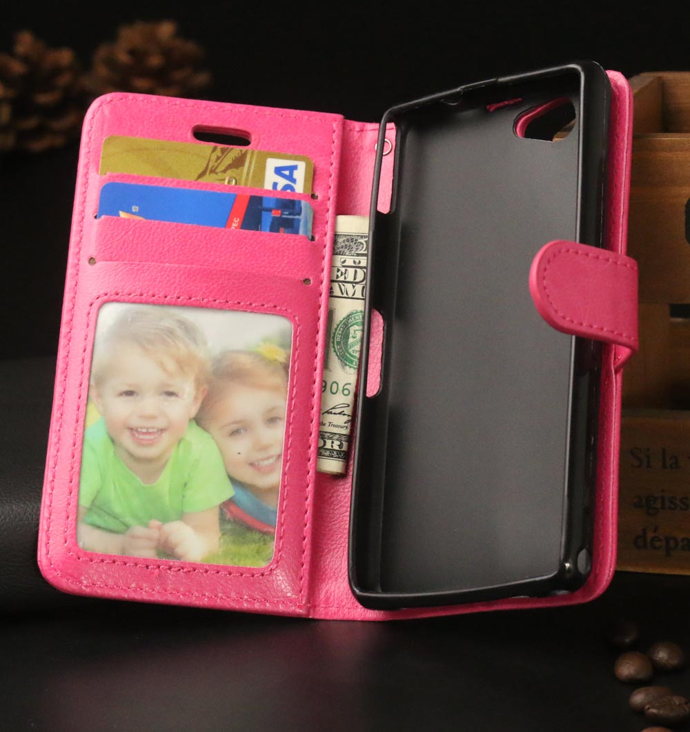 Luxury Leather Wallet Magnetic Flip Cover Stand Case Sony Xperia Z1 Compact Z1mini D5503 M51W Phone Card Slot  -  Jackie Union Trading Co.,Ltd store