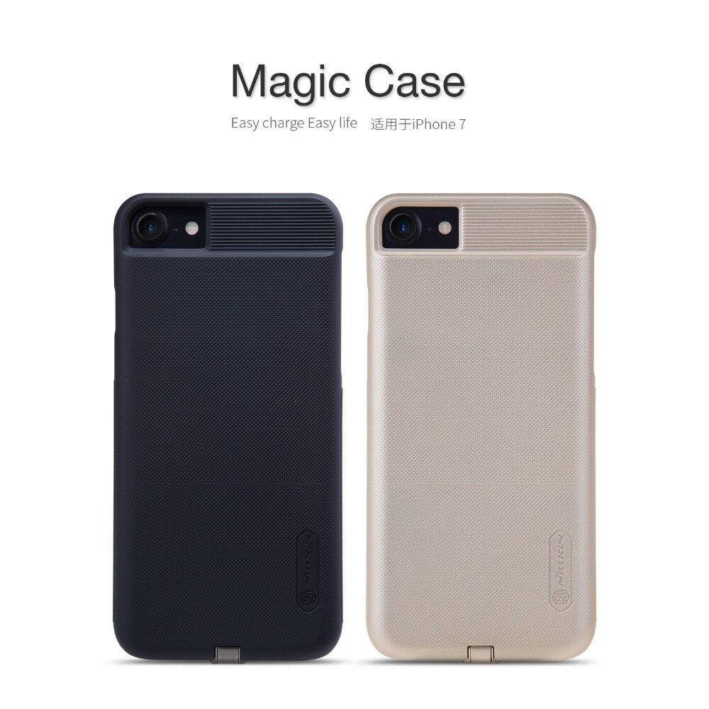 imágenes para Nillkin Delgado Cargador Qi Receptor de Carga Inalámbrica Inteligente Magia Cubierta de la caja para el iphone 7 4.7 iPhone7 Plus 5.5 ORIGINAL a granel
