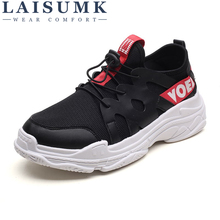LAISUMK Summer Cool Breathable Men Sneakers Shoes Mesh Casual Shoes Gingham Lace Up Comfortable Shoes For Walk Sneakers цены онлайн