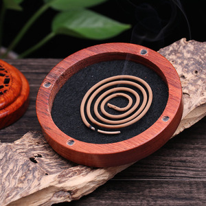 Image 5 - Vietnam Rosewood incense box sandalwood incense burner Hours Coil Censer With magnetic cover tea room Home Decoration supplier