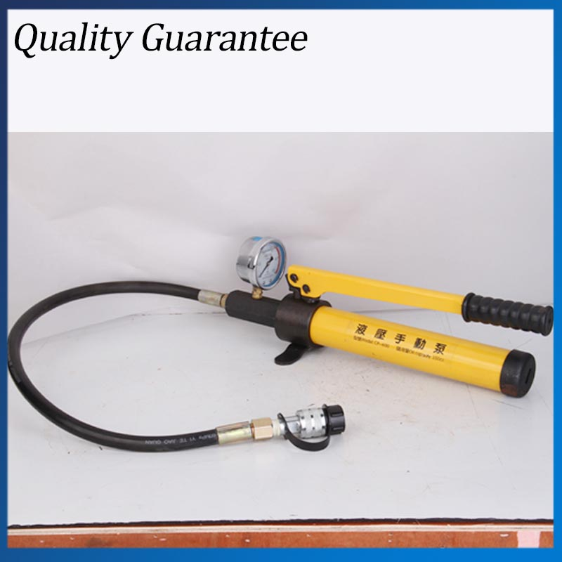CP-600 Portable Hydraulic Pump with Pressure Gauge Hand Oil Pump high pressure gear oil pump cbt e306 hl constant flow hydraulic pump
