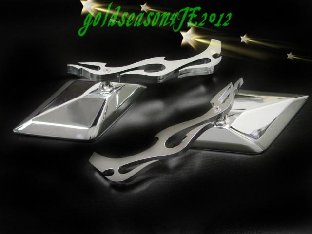Moto Standard Curiser Chopper Grand Chien Rebel Shadow Spirit Magna 600 750 VTX 1300 1800 CHROME FLAMME Côté Rétroviseurs