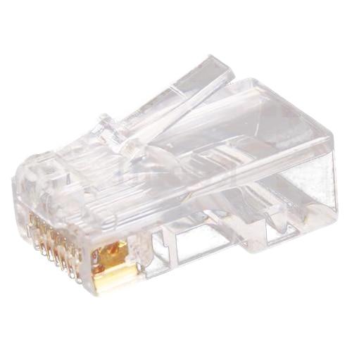 100pc Clear Rj45 Cat5 8p8c Modular Jack Network Connector