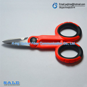 Image 5 - Japan 1PCS RUBICON Brand RCZ 527 non slip plastic handle optical fiber scissors especially used for Kevlar lines cutting