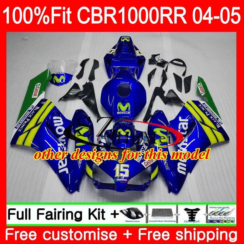 Carrocería de inyección para HONDA CBR 1000RR CBR1000 RR 04 05 58SH20 CBR1000RR 04 05 rojo negro Nuevo CBR1000 RR 2004 OEM 2005 carenados kit - 3