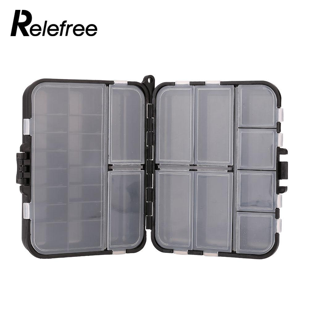 Fishing Lure Spoon Bait Tackle Case Compartments Accessories Storage Box