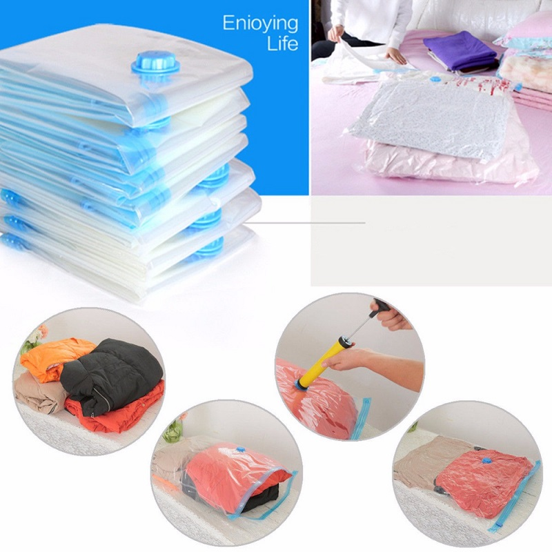 Us 2 8 Off Vacuum Bag Storage Transpa Border Foldable Extra Large Compressed Organizer Saving E Seal Home Clothes In