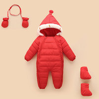 Autumn Winter Newborn Infant Baby Clothes Thicken Cotton Romper Outwear Clothes Boys Winter Jump Suit Bebes