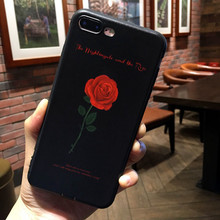 Applicable to iphone6 7 8 X XR XMAX mobile phone shell painted rose TPU soft plastic drop protection sleeve