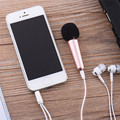 Cute Portable Mini Microphone Stereo Condenser Mic For IPhone Android Smartphone PC Laptop Network Chatting Singing Karaoke