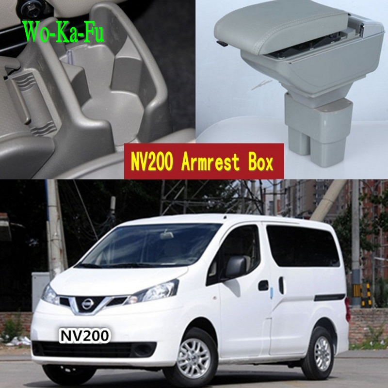 Car Center Console Armrests Storage Box for Nissan NV200 evalia armrest box With USB interface 2019 2011 2013 2014 2015 2016
