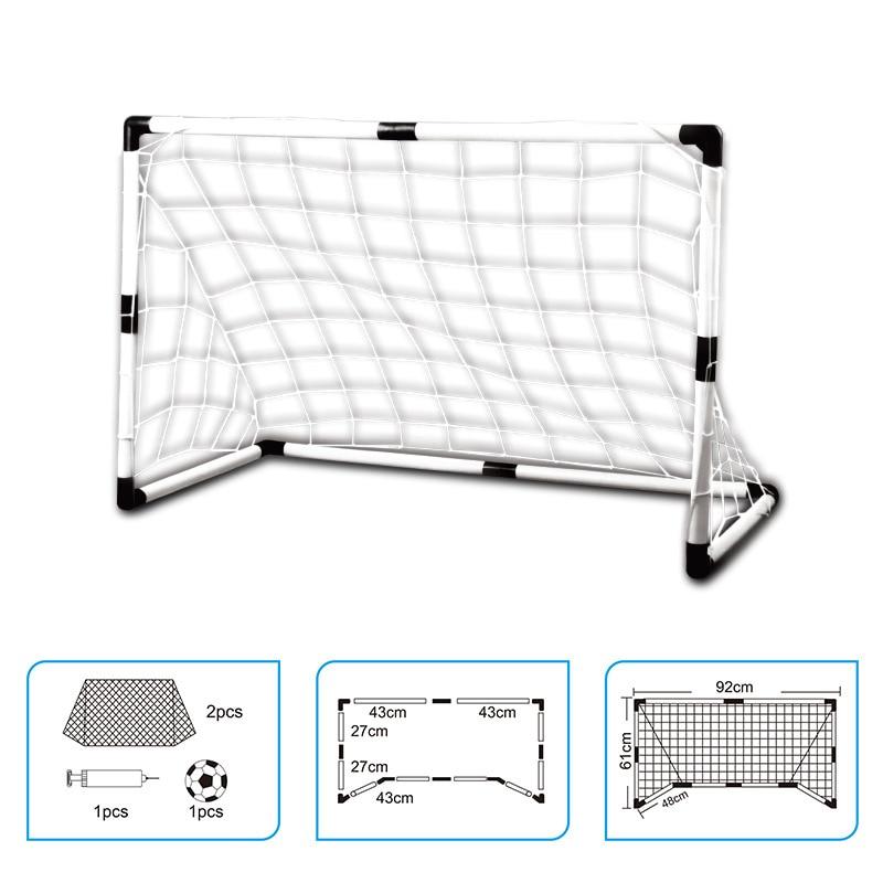 2Pcs Mini football ball Soccer Goal Folding Post football net + Pump Kids Sport Indoor Outdoor Games Toys Kids soccer ball Goal
