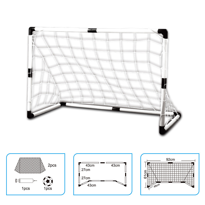 2Pcs Mini football ball Soccer Goal Folding Post football net + Pump Kids Sport Indoor Outdoor Games Toys Kids soccer ball Goal image
