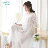 Toptan 2017 prenses beyaz dantel pijama sexy Lingerie Bayan retro saray Avrupa ve Amerika'da güzel gecelik w1041