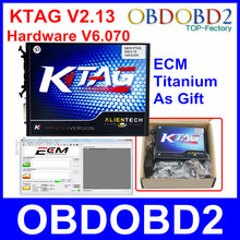 Top Vender Hardware V6.070 V2.13 KTAG K-TAG Maestro Versión OBD2 ECU Chip Tuning Programador Para Autos Camiones K TAG No Tokens Limited