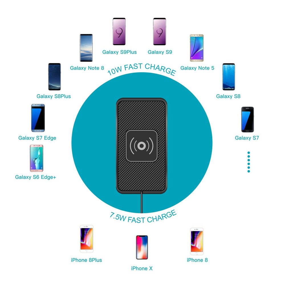 universal wireless charger chargaing pad