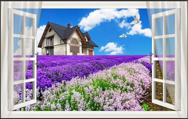 aliexpress  buy beatyle beautiful tulip garden with blue sky, Garden idea