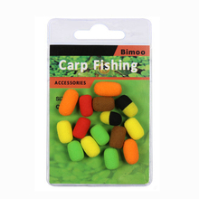 Bimoo 15pcs/pack Cylinder Carp Fishing Bait Foam Boilie Pop Ups Hook Fish Baits Lure 8mm Zig Rig Foam Brown Red Terminal Tackle