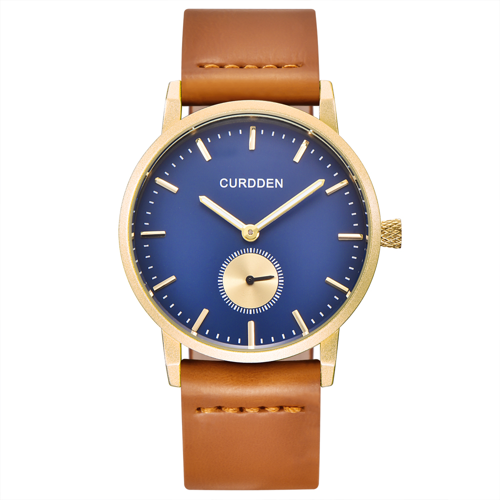 Hot Sale CURDDEN Fashion Luxury Couple Watches Women Men Leather Simple Quartz Watch Relogio Masculino Feminino Original Marca