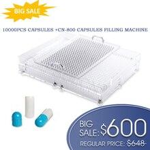 Preço grande! CN 800 cápsula máquina de enchimento com 10000 pces separado tamanho 0 várias cores cápsulas de gelatina