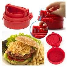 Руководство гамбургер формы пресс гамбургер пирожки производитель пресс шеф-повара котлеты фаршированные гамбургер плесень гриль кухонные инструменты Гаджеты Наруто