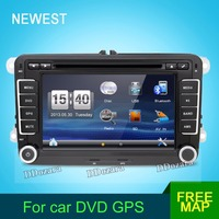 Two Din 7 Inch Car DVD Player Radio GPS Navigation Audio Camera Bluetooth For VW GOLF