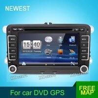 Two Din 7 Inch Car DVD Player Radio GPS Navigation Audio Camera Bluetooth For VW GOLF