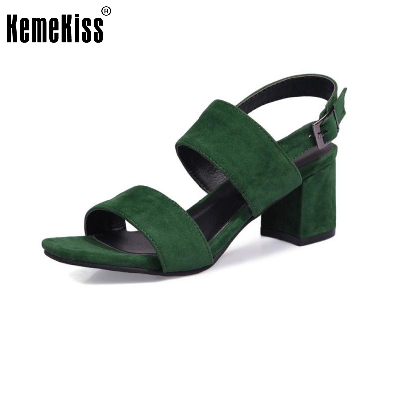 KemeKiss Size 33-43 Lady High Heel Sandals Open Toe Ankel Strap Summer Shoes Women Solid Vintage Sandal Party Female Footwear yellow orange open toe women sandals thin high heel shoes open heel criss cross strap summer sandal 2015 sapatos femininos