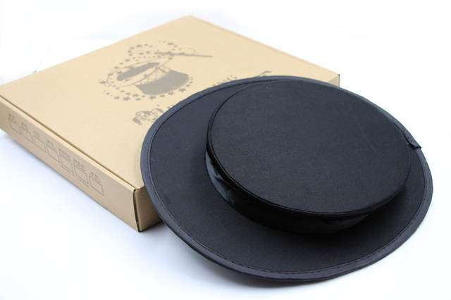 US $18 5 |Folding Top Hat black, Top Hat Collapsible COMPRESSION SPRING  Magician Cap Magic Trick Essential Prop-in Magic Tricks from Toys & Hobbies  on