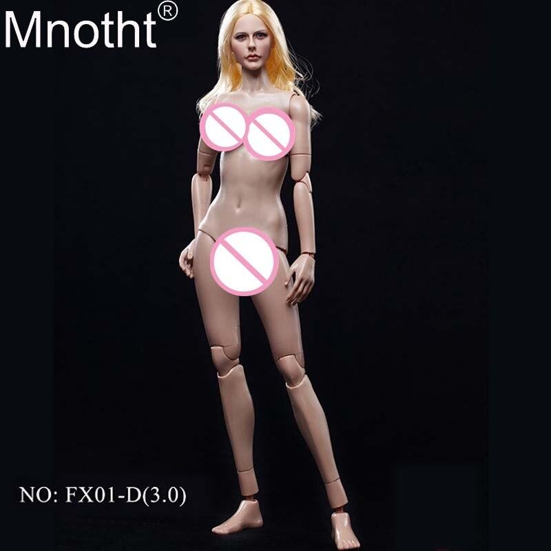 Mnotht 1/6 femme soldat peau naturelle grand/moyen poitrine corps FX01-D Figure en caoutchouc peau couche jouet Fit 12