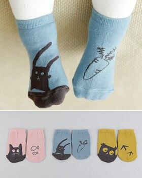 Verantwortlich Baumwolle Neue Geboren Baby Socken Kinder Stock Socke Baby Jungen Socken Mädchen Kinder Kinder Cutu Tier Kaninchen Katze Muster Socken