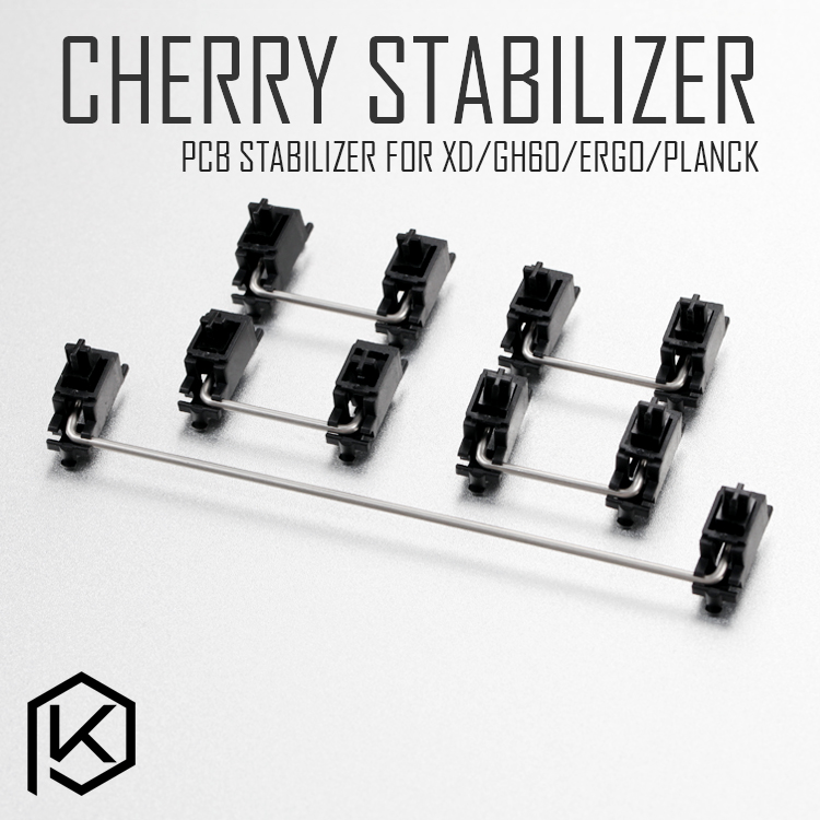Black Cherry Original PCB Stabilizer For Custom Mechanical Keyboard Gh60 Xd64 Xd60 Xd84 Eepw84 Tada68 Zz96 6.25x 2x 7x Rs96 87