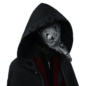 Image 2 - Masque Steampunk en Faux cuir, masques médecin foncé, masque à gaz, masque Cosplay oiseau mort, bec Long, Halloween, carnaval, déguisement, accessoire