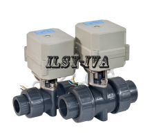 BSP or NPT G1/2,3/4,1,1 1/4,1 1/2 Electric PVC Ball Valve,AC110~230V 2 wires control motorized ball valve high quality bsp npt 1 2 dn15 brass normal open close valve tf15 b2 c ac110v 230v 2 or 5 wires for hvac water application