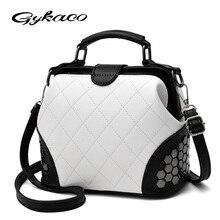 Gykaeo Marke Luxus Handtaschen Frauen Designer Hochwertige Einkaufstasche Für Weiblichen Beiläufigen Niet Patchwork Messenger Umhängetaschen