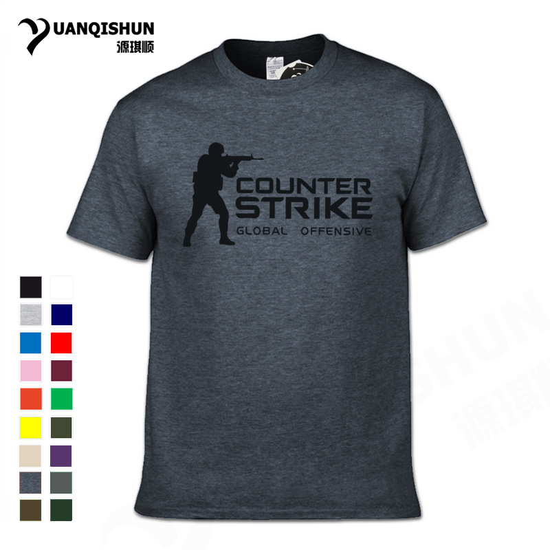 CS GO Gamer T Shirt 2018 Hot Counter Strike Global Offensive CSGO Men Tshirt Top Quality Brand Clothing Funny T-Shirt Cotton Tee Футболка