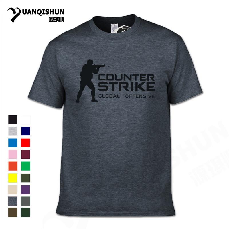 CS GO Gamer   T     Shirt   2018 Hot Counter Strike Global Offensive CSGO Men Tshirt Top Quality Brand Clothing Funny   T  -  Shirt   Cotton Tee