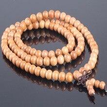 Ubeauty 8mm 108 natural árbol de Tejo rosario pulsera de buda Tibetano de meditación mala collar brazaletes de la Pulsera del Estiramiento de Madera