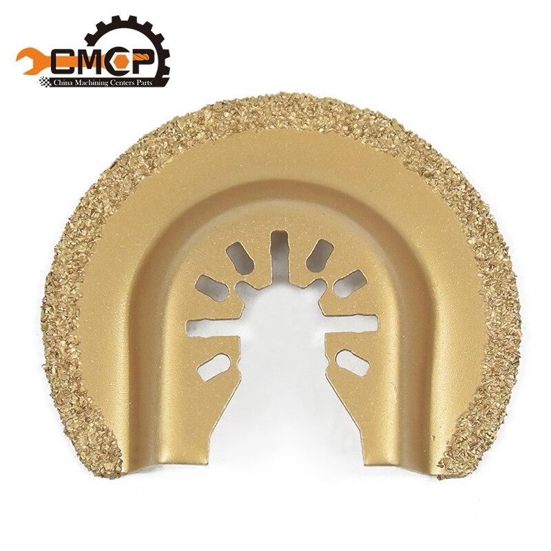 64mm 1PC half circle diamond quick release oscillating saw blade fit all multi tools Renovator House DIY Tools цена
