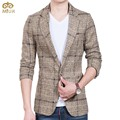 Large Size Plaid Blazer Masculino Men Brand-clothing 5XL 4XL 3Color Black Gray Jaqueta Masculin Slim Fit Terno Masculino 2017