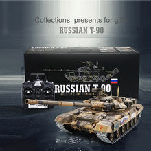 HL HengLong Upgraded Plastic 1:16 RC Tank Battle Tiger Russian T90 Remote Control Tank Model Tracks Sprockets 3938 Fight Tank(China)