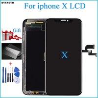 100% тест OEM AMOLED lcd Замена для iPhone X ЖК дисплей 3D дигитайзер сенсорный экран в сборе черный цвет